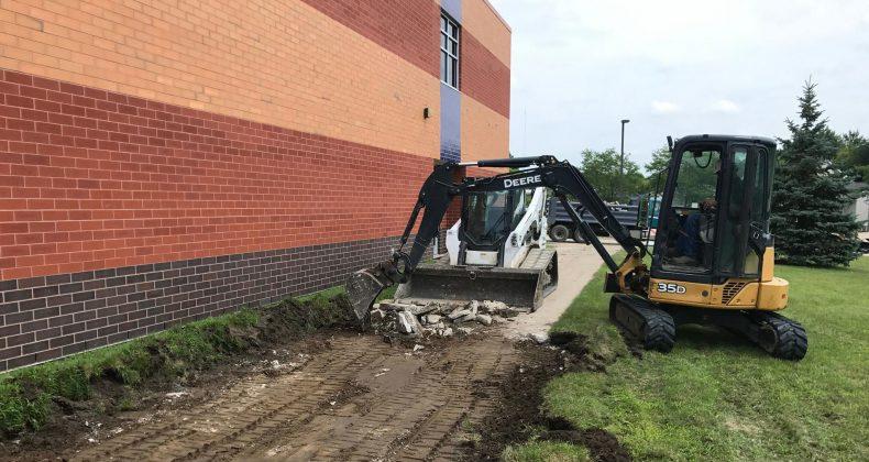construction at viola gibson