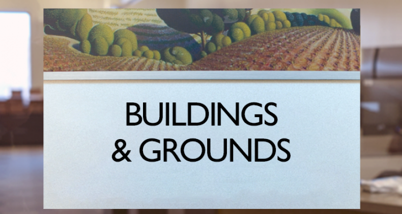 Building and Grounds sign
