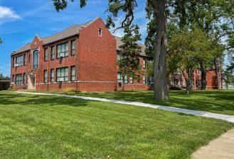 exterior of harrison elementary school