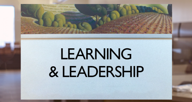 Learning and Leadership sign