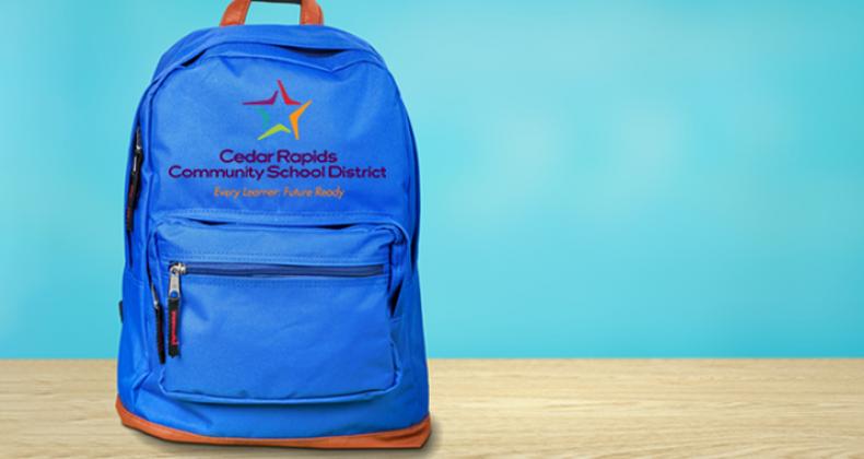 Cedar Rapids schools backpack
