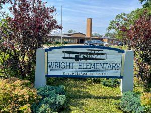 exterior of wright elementary school