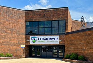 exterior of cedar river academy
