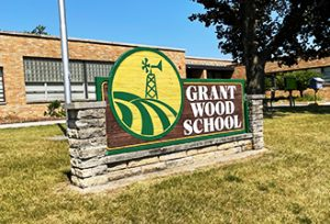 exterior of grant wood elementary school