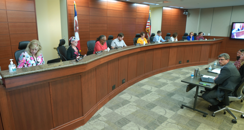 Board of Education during a board meeting