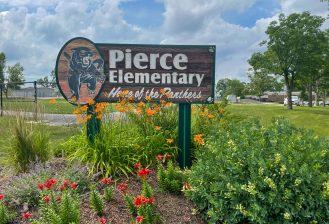 exterior of pierce elementary school