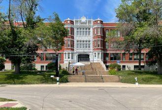 exterior of roosevelt creative corridor business academy