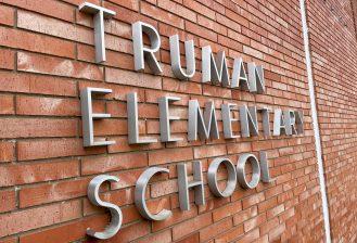 exterior of truman elementary school