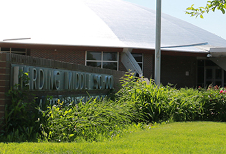 exterior of harding middle school