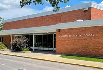 exterior of madison elementary school