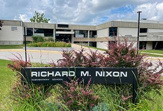 exterior of Nixon Elementary School