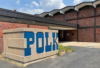 exterior of polk alternative education center