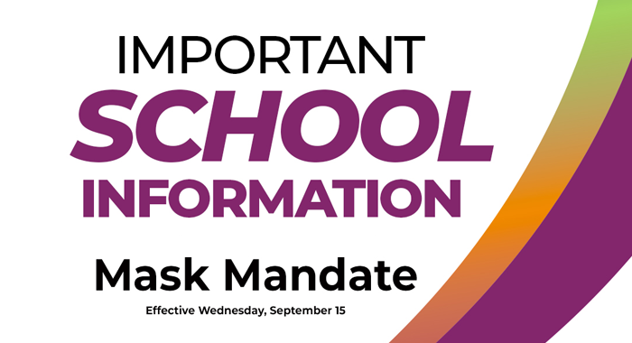 Mask Mandate goes into effect on Wednesday, Sept. 15.