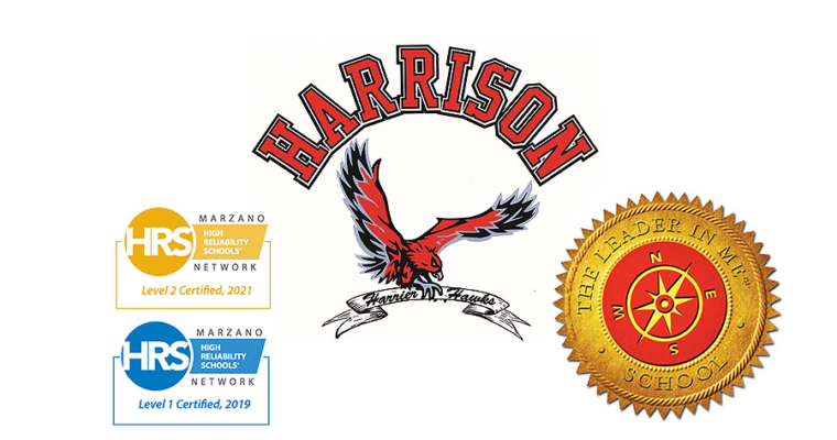 Harrison elementary a level 2 certified school and a leader in me school.