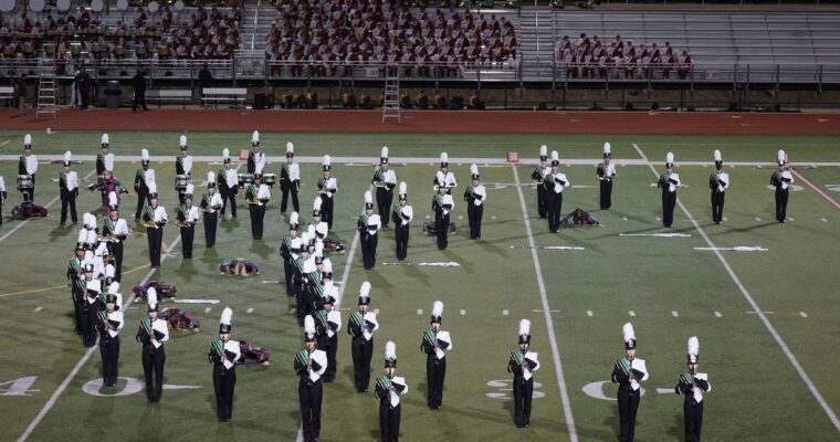 The Kennedy Marching Band in action