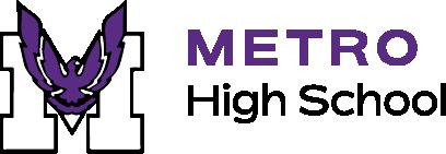 School logo metro high school
