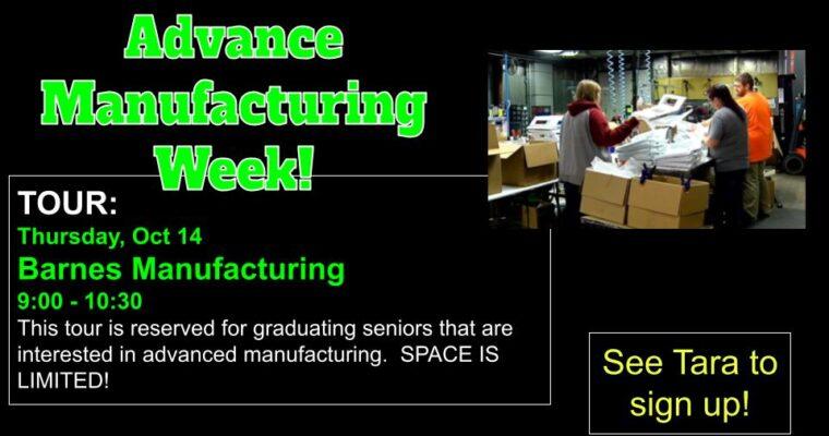 Advanced Manufacturing Week: Barnes Manufacturing Tour