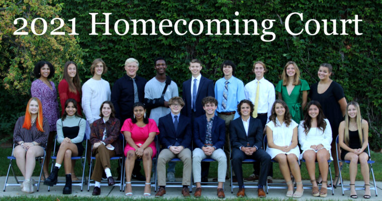 Homecoming Nominees Group Photo with Caption